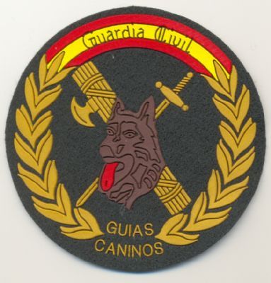 Emblema de brazo de Guias Caninos de la Guardia Civil ( K-9 )