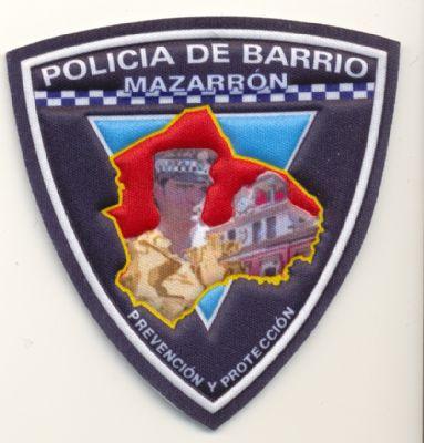 Emblema de brazo de Policia Local Mazarrón ( Policia de Barrio)