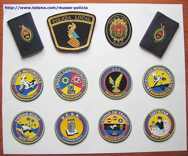 Emblemas de la Policía Local de Elche (Alicante)