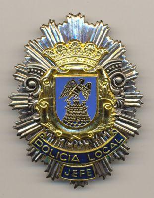 Placa Metálica de Policia de Aguilas (Murcia)
