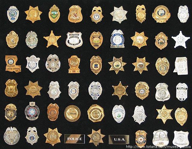 Placas pecho Policias estatales U.S.A.