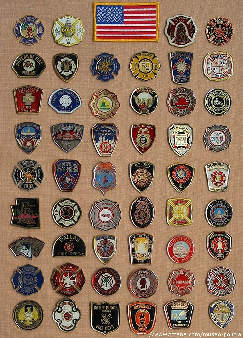 Placas Bomberos U.S.A.