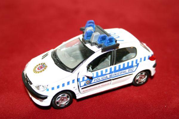 Vehiculo Miniatura Peugeot 206 Policia Municipal de Madrid