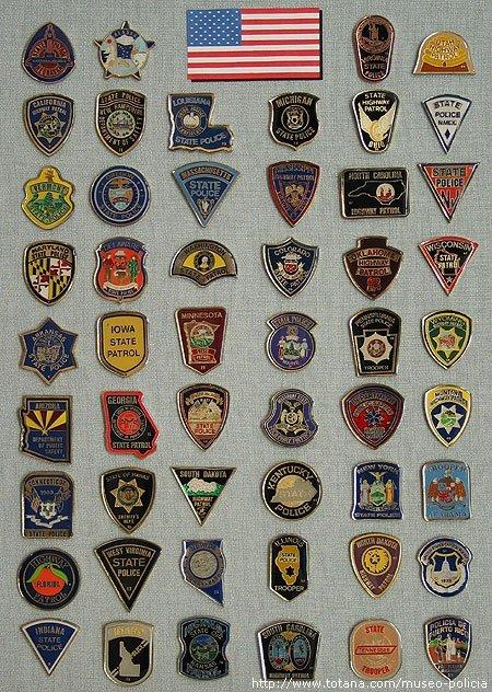 Placas Policias U.S.A.