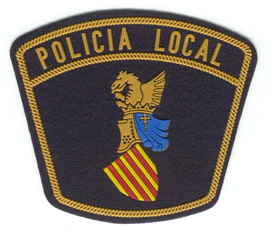 Emblema de pecho y brazo,  Policía Local de Ibi (Alicante)