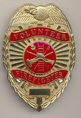 Placa Metalica de pecho Bomberos Voluntarios de Las Vegas (Nevada) U.S.A.