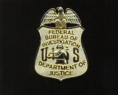 Placa Metalica de pecho F.B.I.  (U.S.A.)