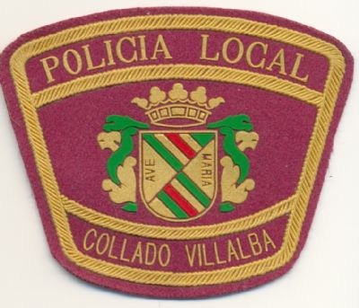 Emblema de brazo de Policia Local Collado Villalba (Madrid)