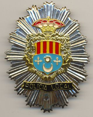 Placa Metalica pecho Policia Local Archena (Murcia)