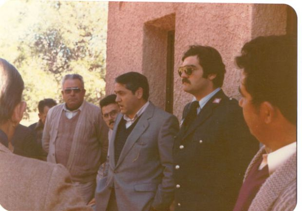 Compañero Pedro Canovas Arias y Alcalde Perez Ferez