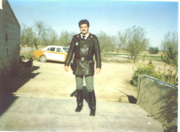 Compañero Pedro Canovas Arias, con uniforme de Motorista