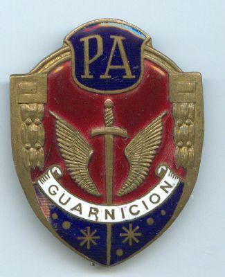 Placa Metalica de Policia Armada (Guarnicion) Epoca de Franco
