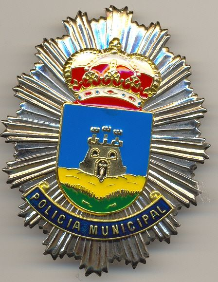 Placa Metalica de Pecho Policia Local Bullas (Murcia)