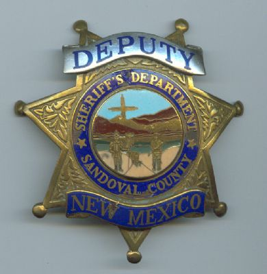 Placa Metalica de Sandoval (Nuevo Mexico) U.S.A.