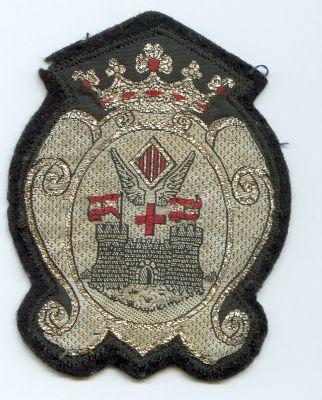 Emblema de Brazo de Policia Local de Alcoy (Alicante) modelo antiguo.