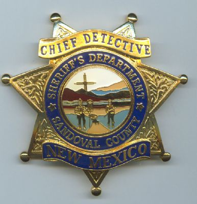 Placa Metalica de Pecho de Condado de Sandoval (Nuevo Mexico) U.S.A.