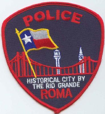 Emblema Brazo Policia Roma (Texas) U.S.A.