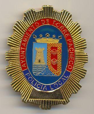 Placa Metalica de Pecho Policia Local Torre Pacheco (Murcia)