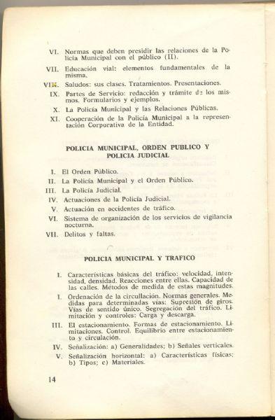 Libro Guia de la Policia Municipal (1974)