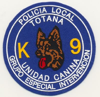Emblema Guias Caninos K-9 Policia Local Totana