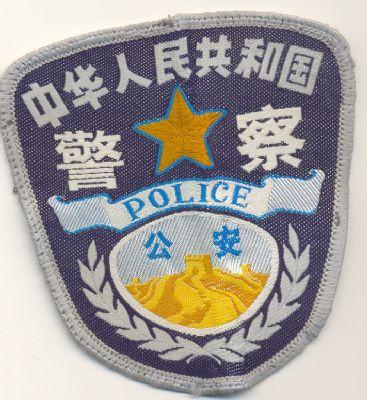 Emblema Brazo Policia China
