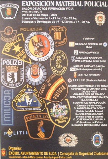 1ª participacion exposicion material policial(Elda-Alicante)