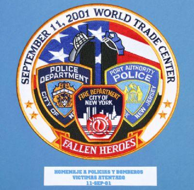 HOMENAJE A BOMBEROS Y POLICIAS 11-SEP-2001
