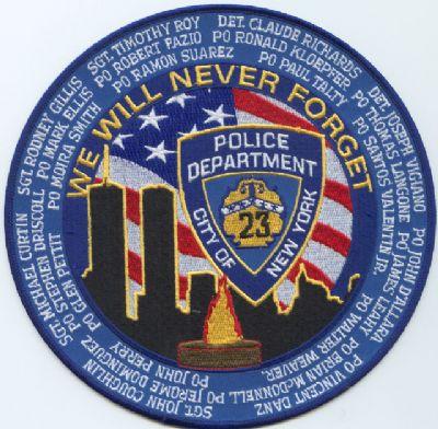 HOMENAJE A  POLICIAS DE N.Y. CAIDOS EL  11-SEP-2001