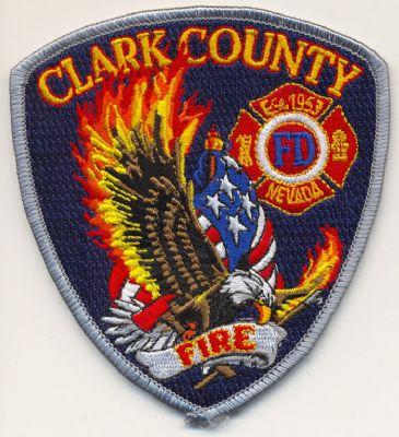 Emblema brazo Bomberos Condado Clark (Nevada)