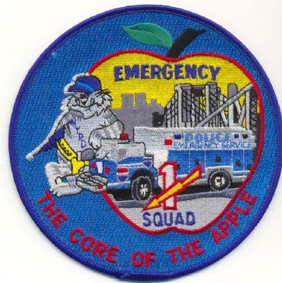 Emblema Brazo Emergencias N.Y. (U.S.A.) SQUAD 1