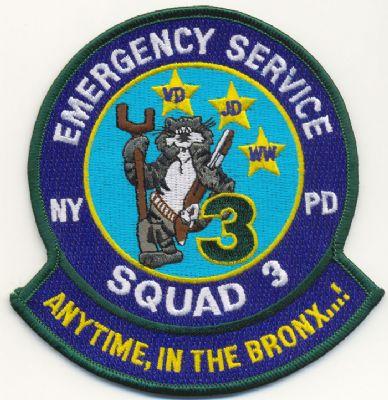 Emblema Brazo Emergencias N.Y. (U.S.A.) SQUAD 3