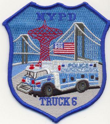 Emblema Brazo Emergencias N.Y. (U.S.A.) SQUAD 6