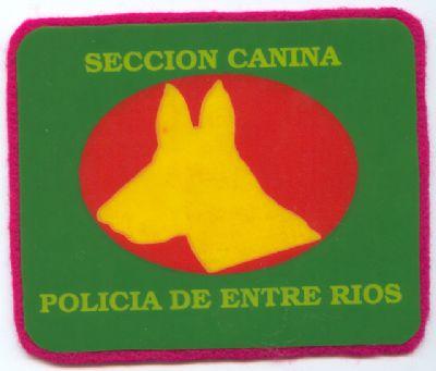 Emblema de la Seccion Canina Policia Entre Rios (Argentina)