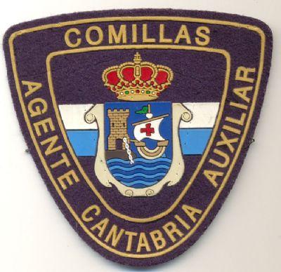 Emblema de  Brazo de Policia Local Comillas (Cantabria)