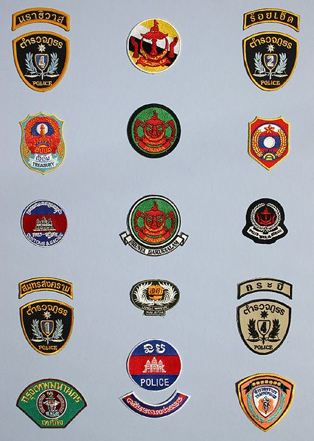 Emblemas varios de Asia