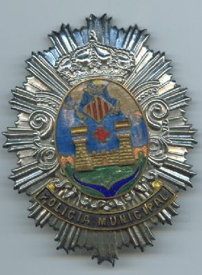 Placa Metalica Policia Municipal Alcoy (Alicante)
