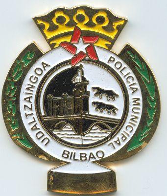 Placa Metalica Policia Municipal Bilbao