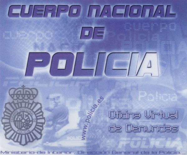 CNP. Oficina Virtual de Denuncias