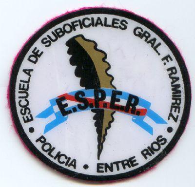 Emblema Brazo de Escuela de Suboficiales Policia de Entre Rios (Argentina)