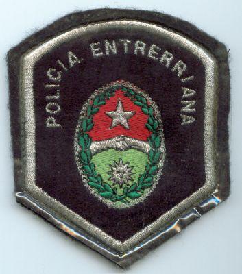 Emblema Brazo de  Policia de Entre Rios (Argentina)