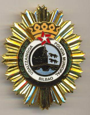 Placa Metalica de Pecho Policia Municipal de Bilbao