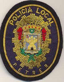 Emblema de Pecho Policia Local Petrel (Alicante)
