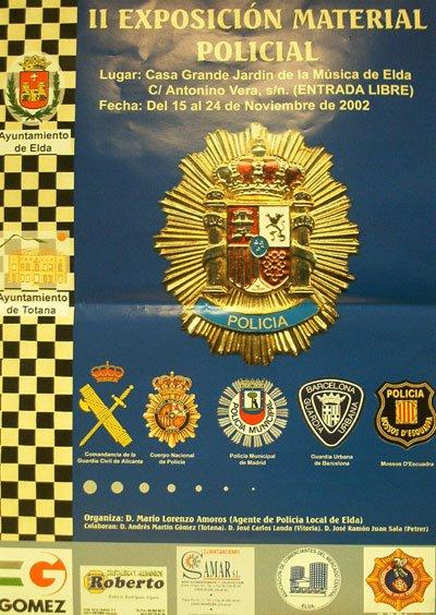 2ª participacion exposicion material policial(Elda-Alicante)