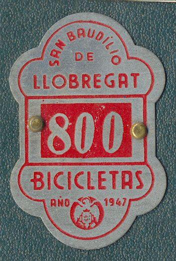 Placa de matrícula de San Baulillo de Llobregat  1.947 (Barcelona)
