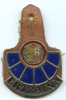 Pepito Metalico de pecho de Policia Autonoma Vasca (Ertzaina)