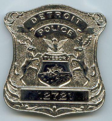 Placa Metalica Policia Detroit (U.S.A)
