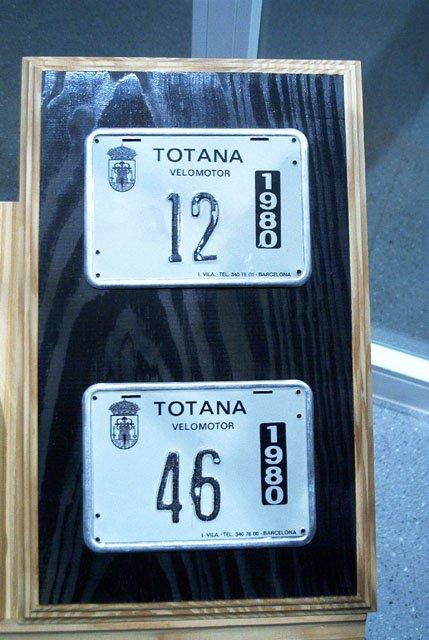 Matriculas placas locales ciclomotores Totana