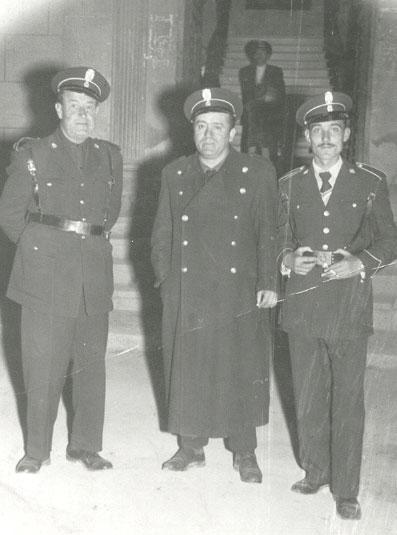 Policias Municipales<br>Cabrera, Manzanera y Francisco Javier Baena Marín