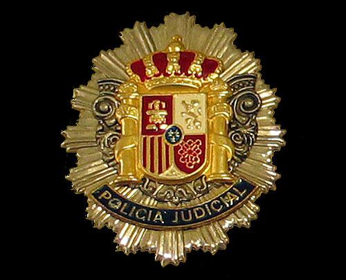 Placa metalica Policia Judicial